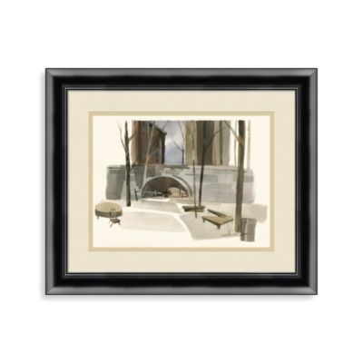 """Central Park in Watercolor"" Framed Art"