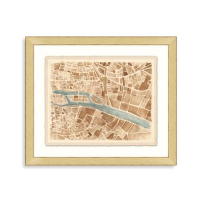 """Modern Map of Paris"" Framed Art 1"