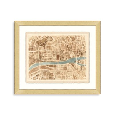 """Modern Map of Paris"" Framed Art 2"