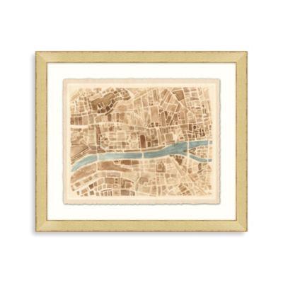 """""""Modern Map of Paris"""" Framed Art 2"""