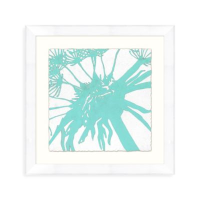 Abstract Bloom 1 Wall Art in Aqua