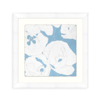 Abstract Bloom 4 Wall Art in Blue