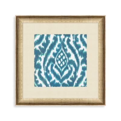 """Aqua Ikat"" Framed Art 2"