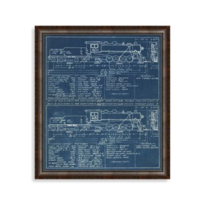 Blue Train 1 Framed Art