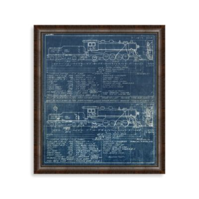 Blue Train 2 Framed Art