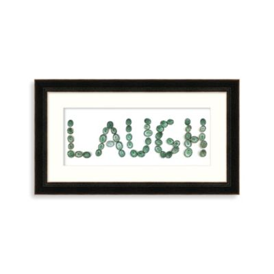 """Laugh"" Framed Art"