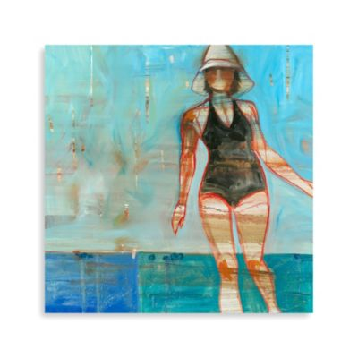 """Black Swimsuit"" Canvas Print"