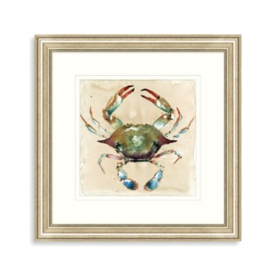 Watercolor Crab Framed Wall Art