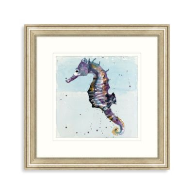 Watercolor Sea Horse Framed Wall Art