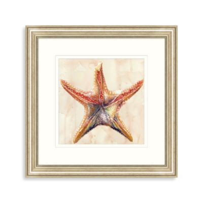 Watercolor Starfish Framed Art