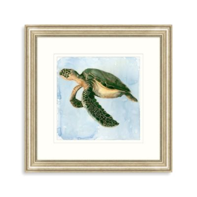 Watercolor Sea Turtle Framed Art