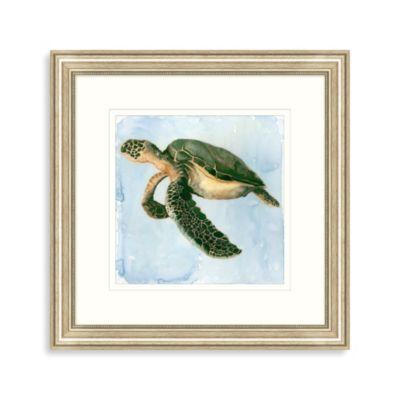 Watercolor Sea Turtle Framed Art