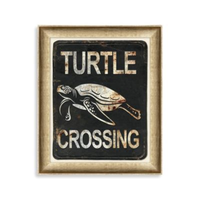 Sea Turtle Crossing 1 Framed Art