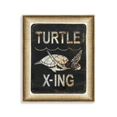 Sea Turtle Crossing 2 Framed Art