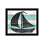 Driftwood Boat Framed Wall Art