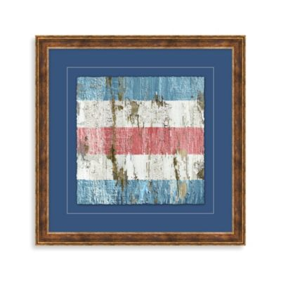 Distressed Nautical Sign 2 Framed Wall Art