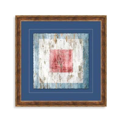 Distressed Nautical Sign 3 Framed Wall Art