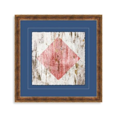 Distressed Nautical Sign 4 Framed Wall Art