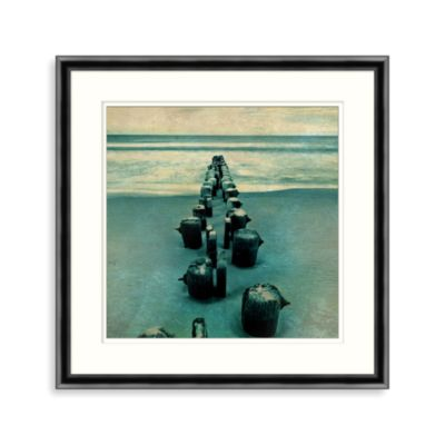 Distressed Pier 1 Framed Wall Art