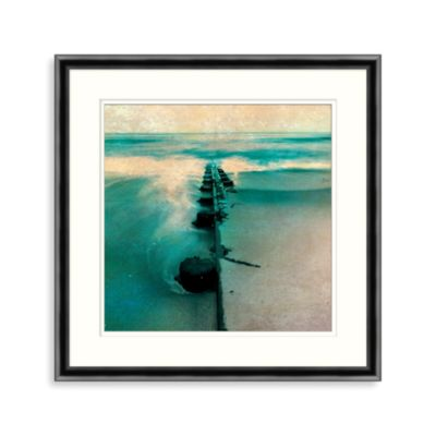 Distressed Pier 2 Framed Wall Art