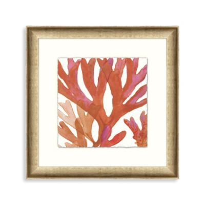 Coral Sea Grass II Framed Wall Art