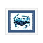 Indigo Crab I Framed Wall Art