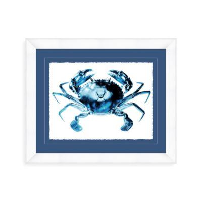Indigo Crab 29-Inch x 35-Inch Wall Art