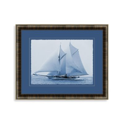 Indigo Ship 2 Wall Art