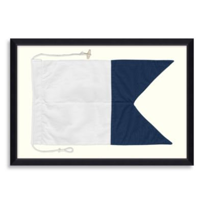 Framed Nautical Flag Shadow Box 3