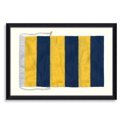 Framed Nautical Flag Shadow Box 5