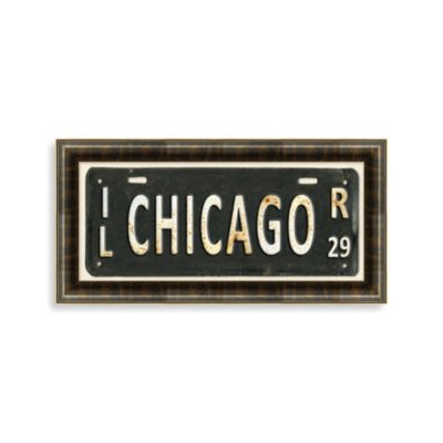 Chicago License Plate Wall Art