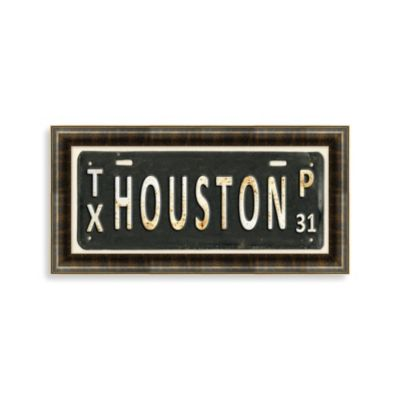 Houston License Plate Wall Art