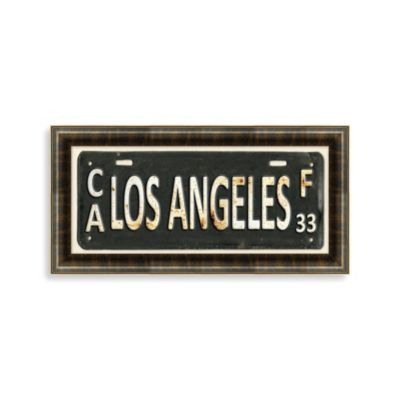 Los Angeles License Plate Wall Art
