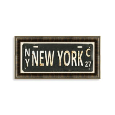New York License Plate Wall Art