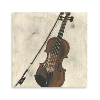 Violin and Bow Printed Canvas