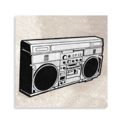 Pop Culture Boombox Printed Canvas