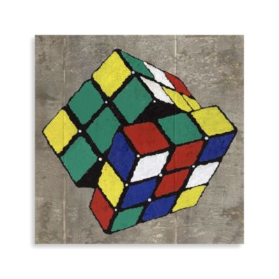 Pop Culture Rubik's Cube Printed Canvas
