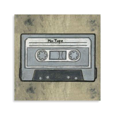 Pop Culture Cassette Tape Printed Canvas