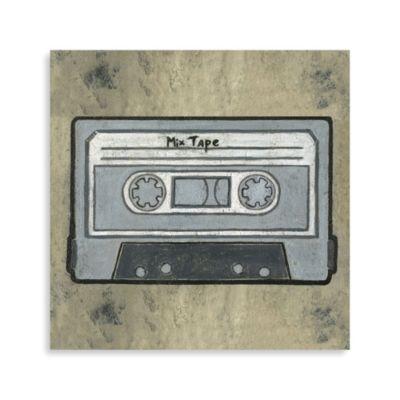 Pop Culture Cassette Tape Printed Canvas