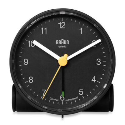 Braun® Round Travel Alarm Clock Alarm Clocks