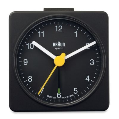 Braun® Square Alarm Clock in Black