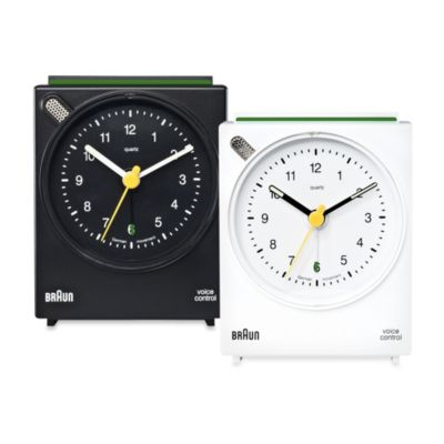 Braun® Voice-Activated Alarm Clock in White