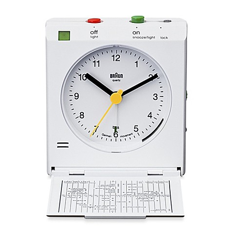 Buy braun flip cover alarm clock in white from bed bath White flip clock