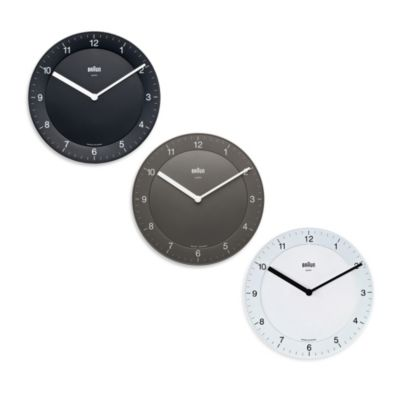 Braun® 8-Inch Wall Clock in Black