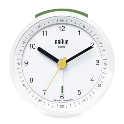 Braun® Alarm Clock in White