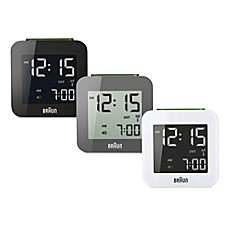 travel bedside alarm clocks and clock radios. Black Bedroom Furniture Sets. Home Design Ideas