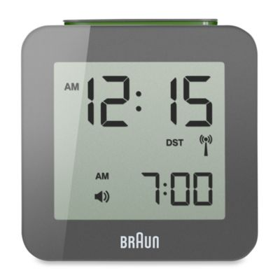 Digital Atomic Alarm Clock in Grey