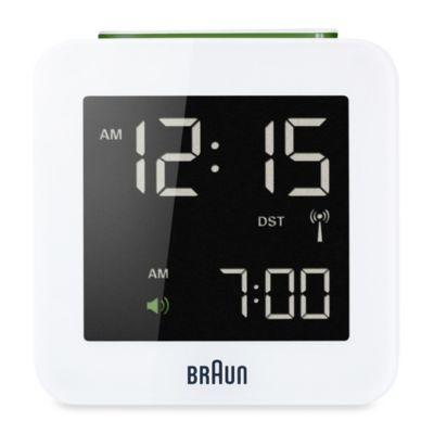 Braun® Digital Atomic Alarm Clock in White