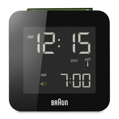 Braun® Digital Atomic Alarm Clock in Black