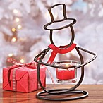 Yankee Candle® Snowman Crackle Small Metal Tealight Holder